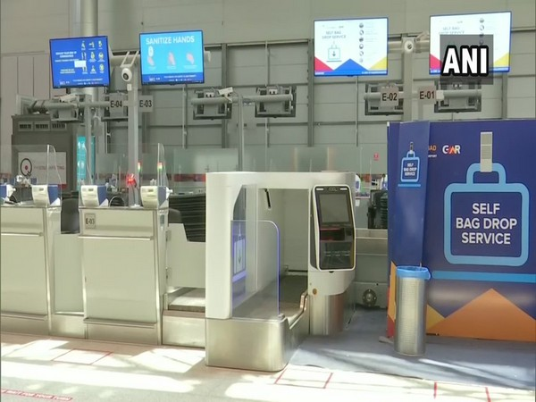 Visuals from Hyderabad airport on Saturday.