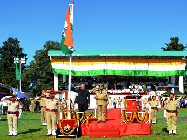 Deputy Commissioner Rahul Yadav unfurl the National flag on the occasion of Independence Day in Poonch district