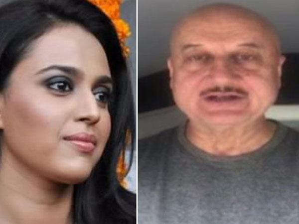 Swara Bhasker and Anupam Kher