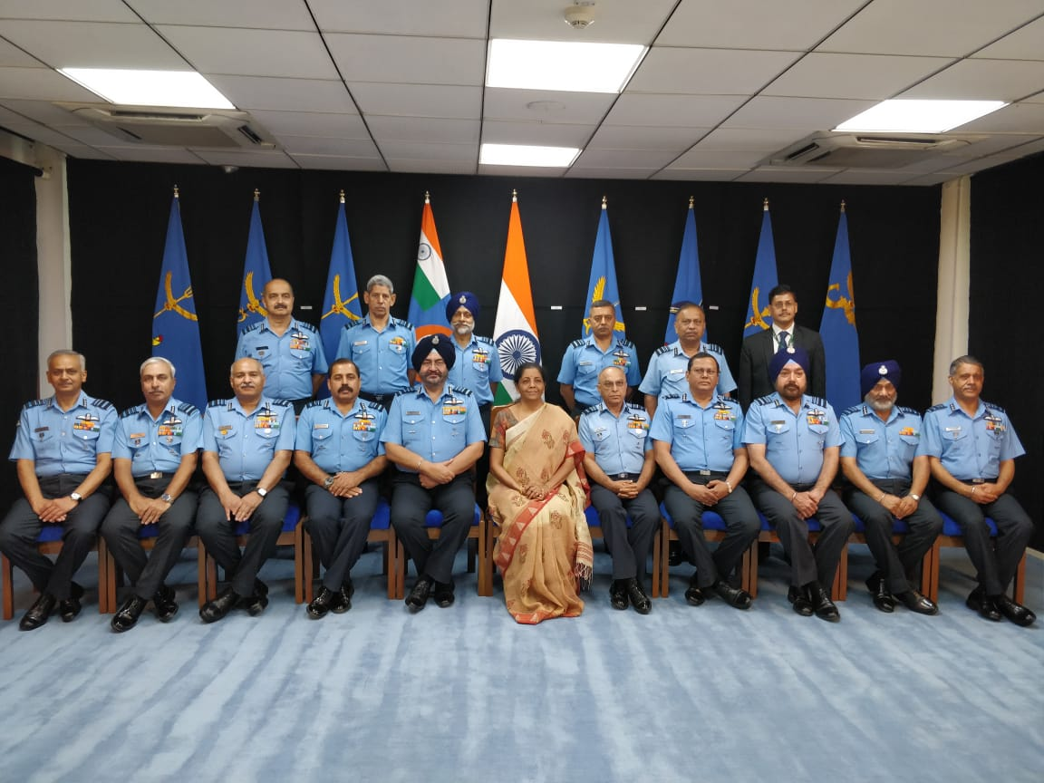 Defence Minister Nirmala Sitharaman on Wednesday attended an Indian Air Force (IAF)commanders' conference