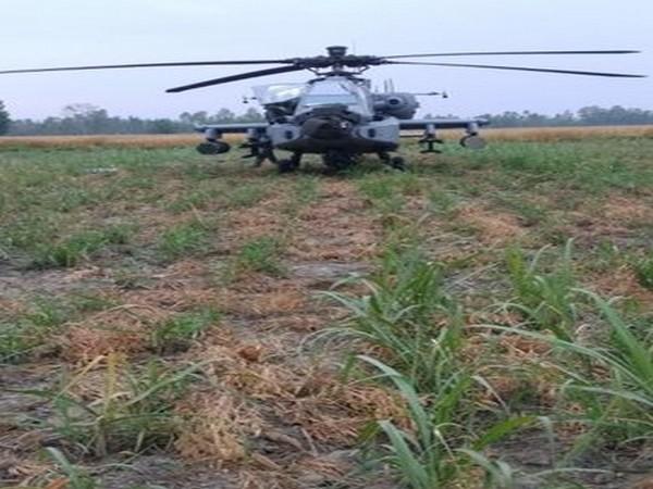IAF's Apache helicopter made a precautionary landing in Hoshiarpur district.