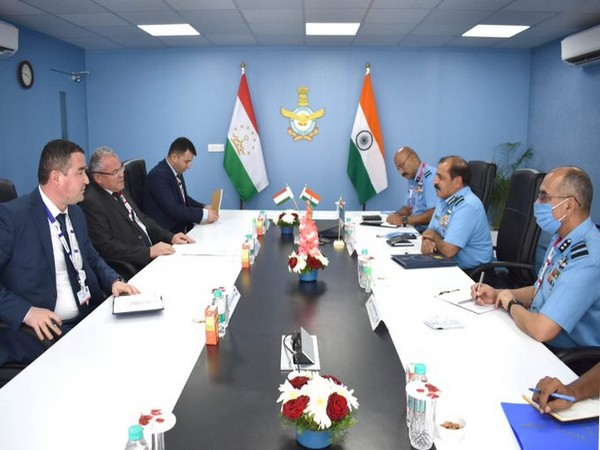 Indian Air Force (IAF) chief Air Chief Marshal RKS Bhadauria on Friday met Air Force chief of Republic of Tajikistan during the ongoing Aero India 2021 in Bengaluru.