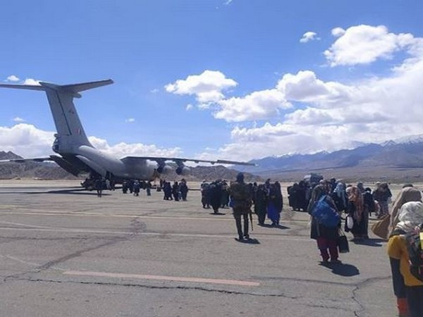 Indian Air Force airlifted a total of 485 people from Hindan, Jaisalmer and Jodhpur to Jammu and Kashmir and Ladakh on April 21-22.