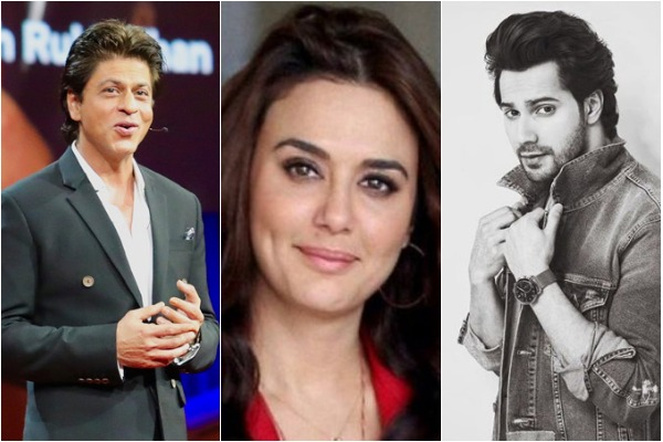 Shah Rukh Khan, Preity Zinta, Varun Dhawan