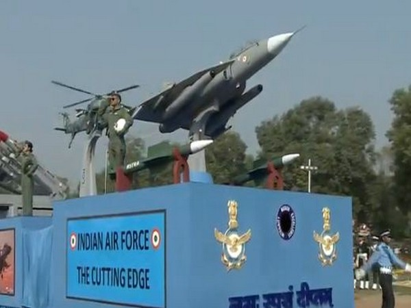 IAF tableau showcased scaled-down models of Rafale, Tejas aircrafts.