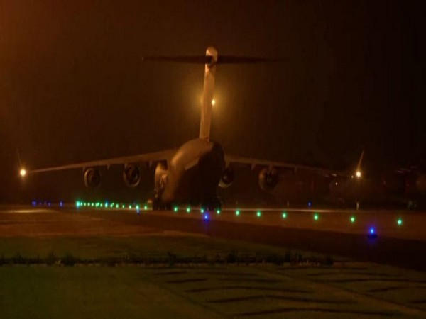 Indian Air Force's (IAF) C-17 Globemaster aircraft at Hindon Air Force Station in Ghaziabad on Monday