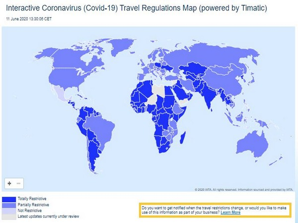 IATA's Covid-19 interactive world map is also available for mobile