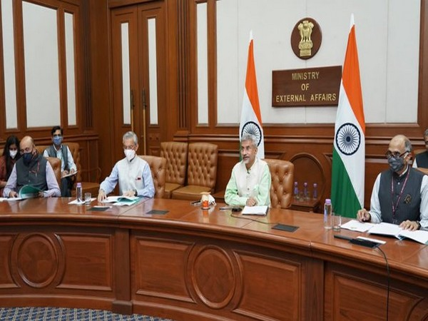 EAM S Jaishankar chaired the customary meeting of IBSA Foreign Ministers (Photo tweeted by EAM)