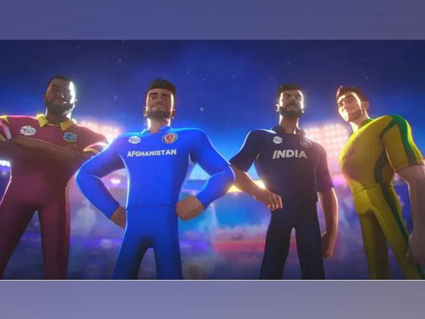 Avatars of Pollard, Rashid, Kohli and Maxwell (Photo/ ICC website)