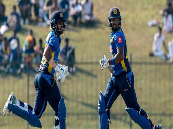Avishka Fernando and Kusal Mendis running during their partnership. (Photo/ICC Twitter)