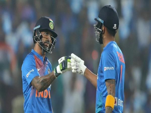 Shikhar Dhawan (L) and KL Rahul (R) (Photo/ICC Twitter)
