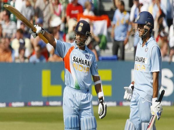 Former Indian batsman Sachin Tendulkar and Sourav Ganguly (Photo/ICC Twitter)