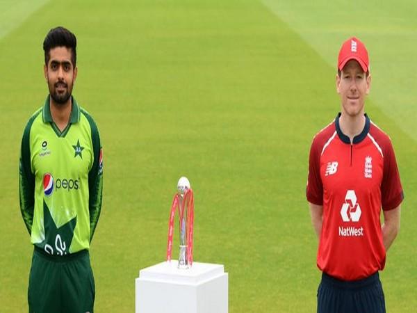 Pakistan skipper Babar Azam and England captain Eoin Morgan (Photo/ ICC Twitter)