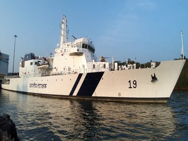 ICG ship 'Sujeet', second in the series of five OPV indigenously designed and built by Goa Shipyard Limited commissioned at Goa.