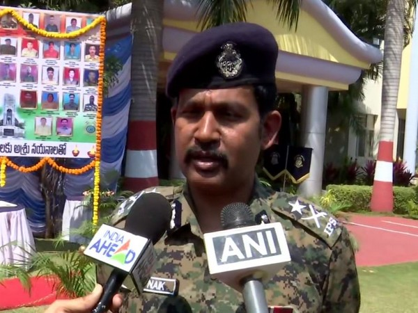 Southern Sector CRPF IGP MR Naik talking to reporters in Hyderabad on Friday. Photo/ANI