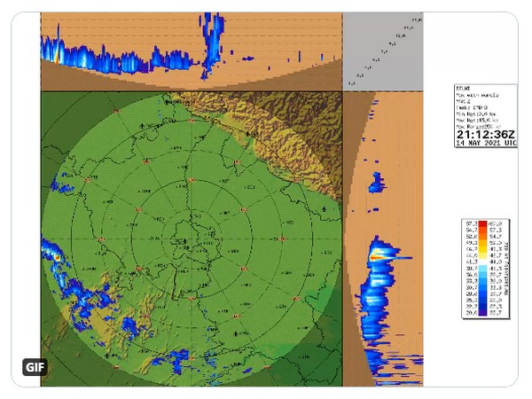 Visual representation of winds speed near Haryana, Rajasthan (Photo/IMD)