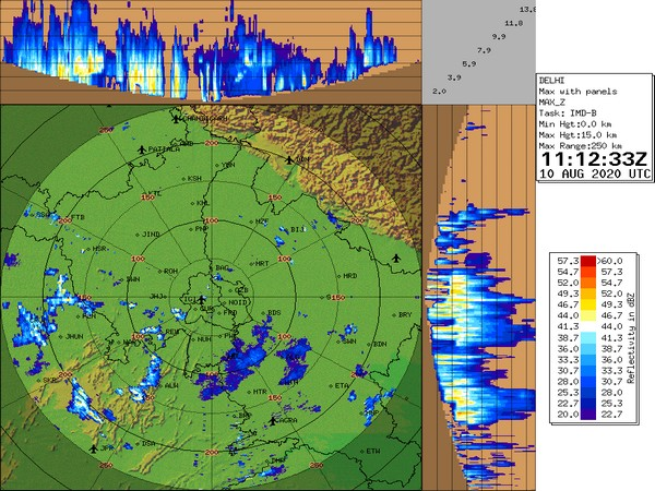 IMD has predicted thunderstorm with light to moderate intensity rain in the next two hours. (Photo courtesy: India Met. Dept. Twitter)