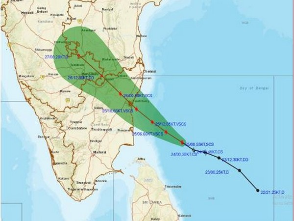Cyclone Nivar will cross Tamil Nadu-Puducherry coasts between Karaikal and Mamallapuram by midnight or early hours of November 26 (Photo/IMD)