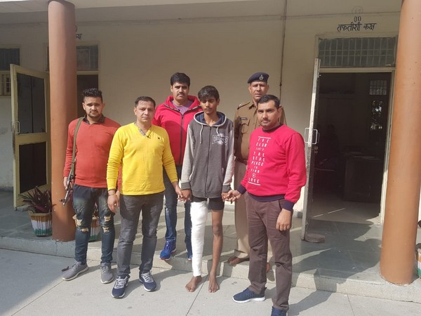 The accused in the kidnapping case was arrested today by the Haryana Police. Photo/ANI