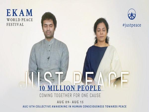 Sri Preethaji and Sri Krishnaji - co-creators of Ekam, inviting millions of peace meditators to meditate online for world peace