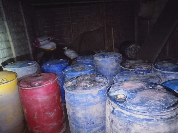 40 drums of illegal oil weighing 240 litres each were seized in Assam on Friday. Photo/ANI