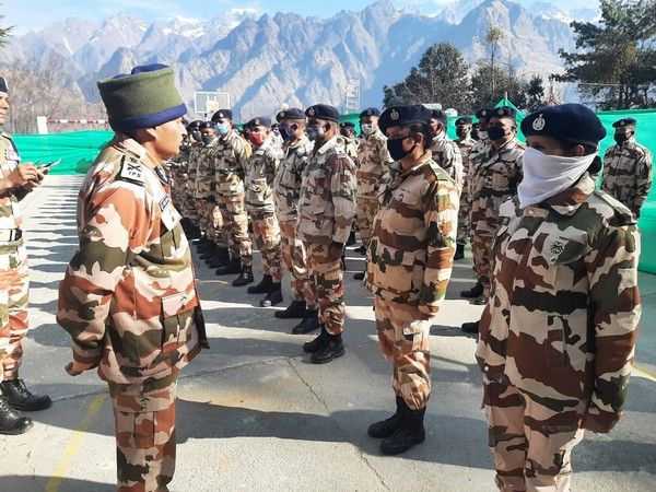 ITBP DG SS Deswal addressing jawans at Joshimath: Pic credit ITBP