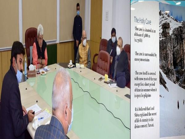 Jammu and Kashmir LG Manoj Sinha chaired the preparatory meeting for Shri Amarnath Ji Yatra 2021 on Tuesday