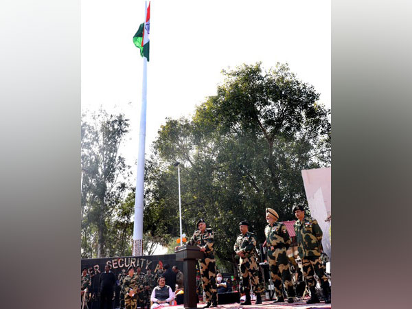 The national flag is flying at a 131-feet-high pole in Jammu.