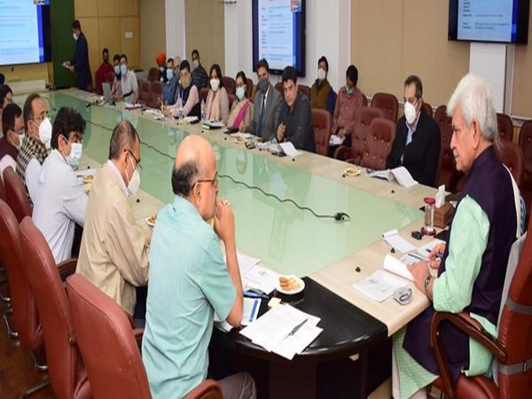 J-K LG Manoj Sinha chairs preparatory meeting of 'Azaadi Ka Amrut Mahotsav- India at 75' (Photo/ANI)