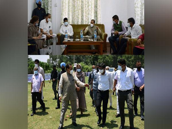 Jitendra Singh visits proposed site for Arun Jaitley Memorial Sports Stadium Hiranagar