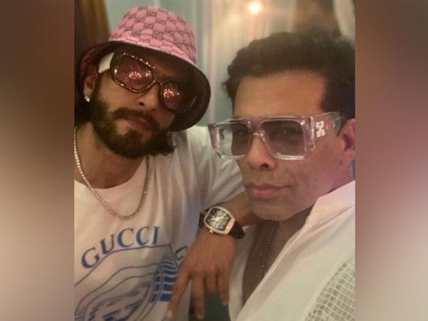 Ranveer Singh with Karan Johar (Image source: Instagram)