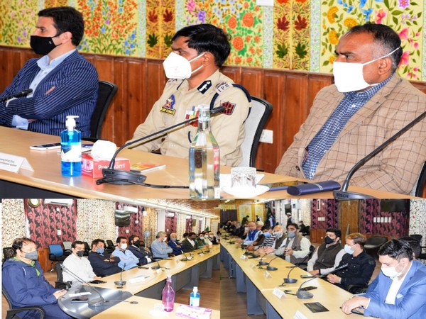 Visuals from the meeting in Srinagar.