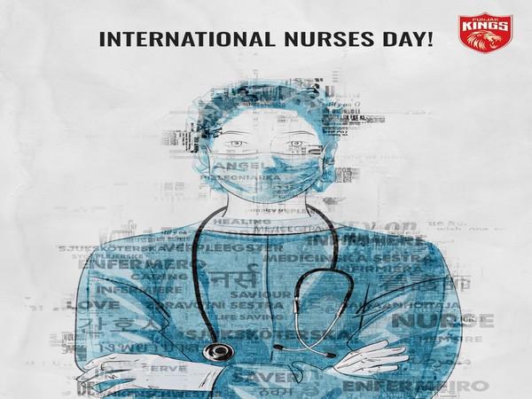 Punjab Kings pay tribute to nurses. (Photo/ Punjab Kings twitter)