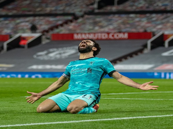 Mohamed Salah celebrates after scoring. (Photo/ Liverpool FC twitter)