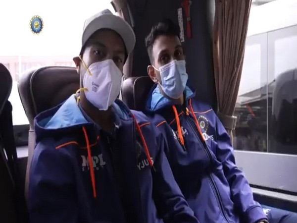 Indian players after landing in London. (Photo/ BCCI twitter video grab)