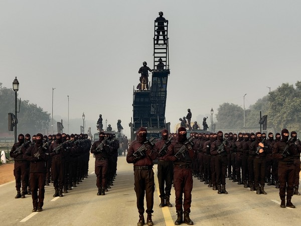 NSG commandos sweat for at least 5 hours to give a flawless marching past on Republic day at Rajpath. (Photo/ANI)