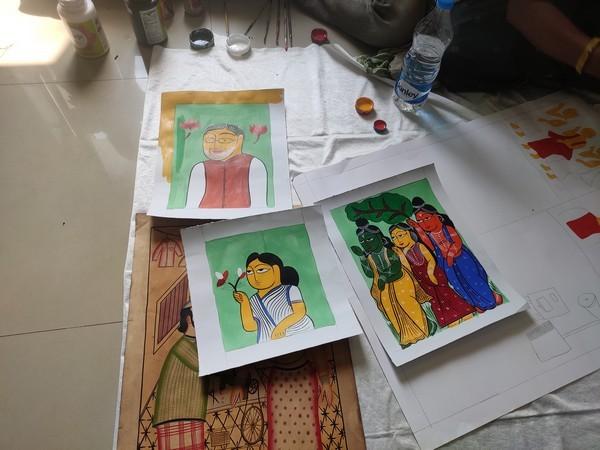 Patachitra paintings (Photo/ANI)