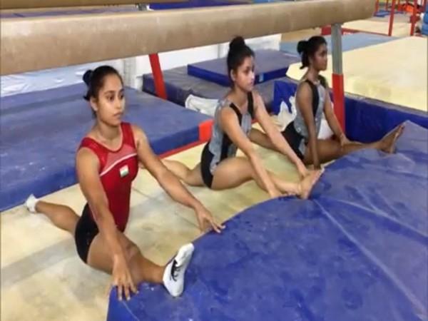 Indian gymnast Dipa Karmakar. (left)