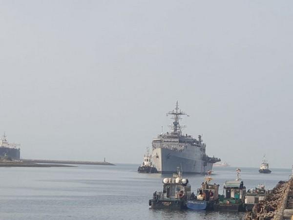 INS Jalashwa reached Iran on June 24. [Photo/ANI]