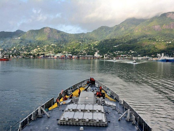 INS Kochi entered Port Victoria in Seychelles on Thursday