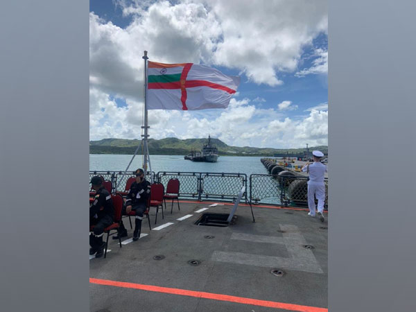 Indian Navy Ships reach Guam to participate in Malabar 21 exercise. (Twitter)