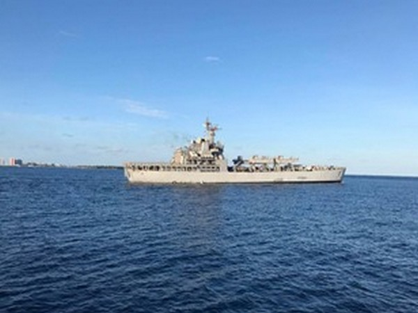 As part of 'Mission Sagar', INS Kesari entered Port of Male, Maldives today.