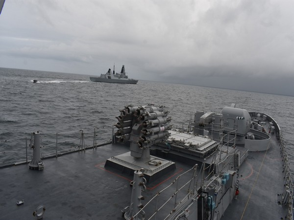 INS Tarkash is participating in the KONKAN-19 exercise currently underway off the South Coast of UK. (Picture tweeted by Indian Navy)