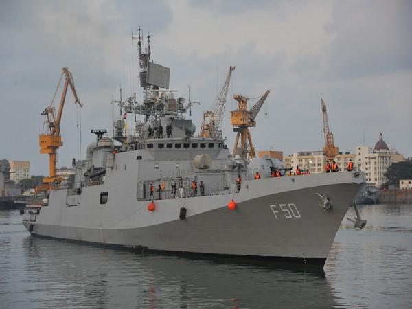 Indian Naval Ship Tarkash. (Photo/ ANI)