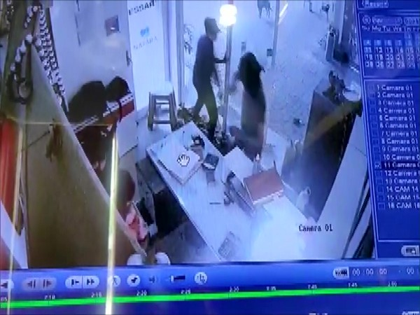 CCTV footage of the crime scene in Indore.