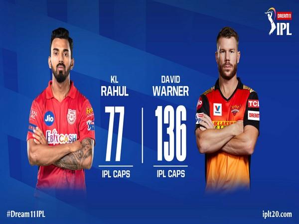 Kings XI Punjab captain KL Rahul and SRH captain David Warner (Photo/ IPL Twitter)
