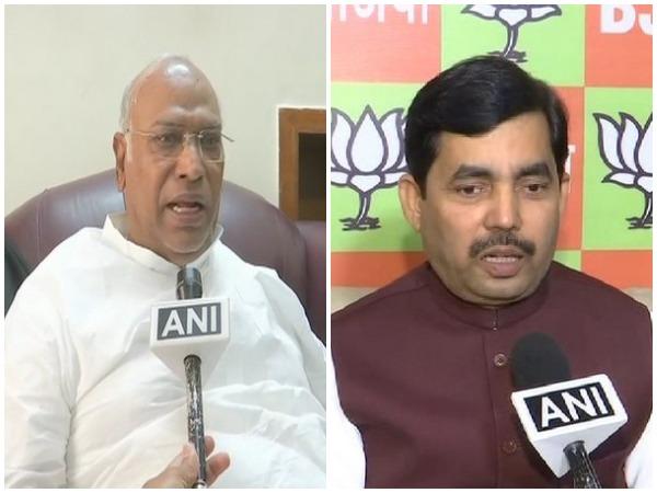 Congress leader Mallikarjun Kharge (left), BJP leader Shahnawaj Hussain (Right)