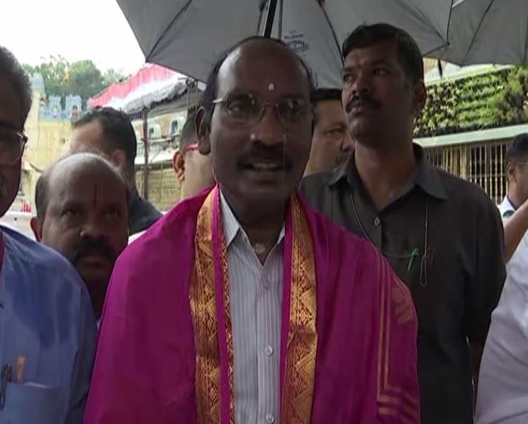 ISRO Chairman Kailasavadivoo Sivan talks to media on Saturday (ANI)