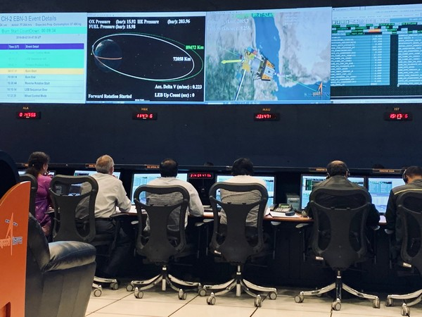 The view of Control Centre at ISTRAC, Bengaluru (Photo tweeted by ISRO)