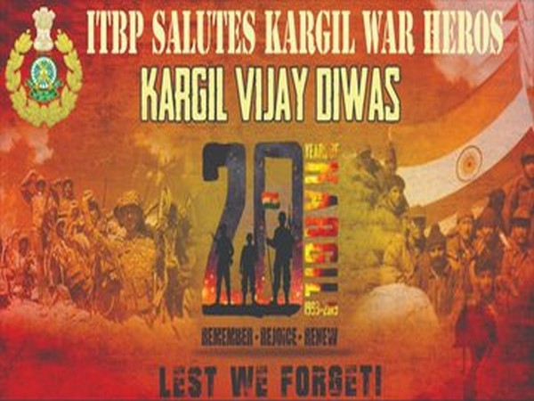 ITBP kick-started eight day Kargil Vijay Diwas celebration program on Saturday. (Photo tweeted by ITBP)
